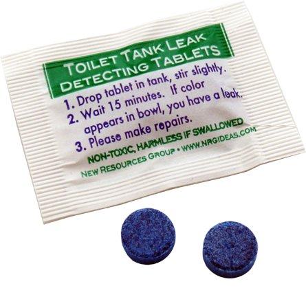 Case Of Toilet Leak Detecting Dye Tablets For Silent Leaks