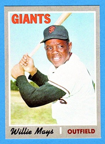 Willie Mays 1970 Topps Baseball Reprint Card Giants At