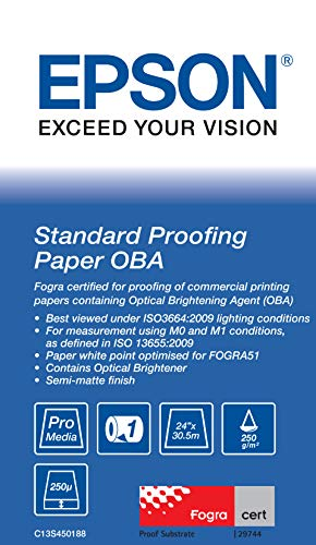 (Epson STANDARD PROOFING PAPER OBA 24IN X 30.5 M, C13S450188 (OBA 24IN X 30.5 M))