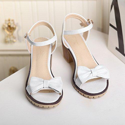 cola de pez femeninas sandalias Nuevas tacón sandalias ZHZNVX con Pink sandalias de femeninas gruesas respirables cómodo zapatos arco nuevas xwFgxnOqv8