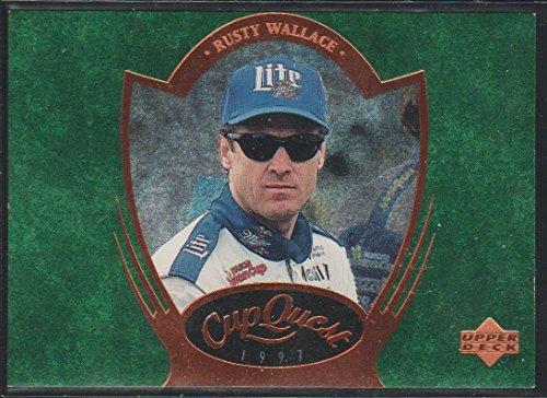 (1997 Upper Deck Rusty Wallace NASCAR Cup Quest Racing Card #CQ5)