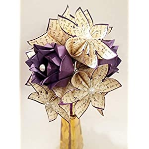 Paper Flowers & Roses Dozen- Customized First Anniversary Gift, gifts for her, one of a kind origami, traditional gift, perfect for her 1