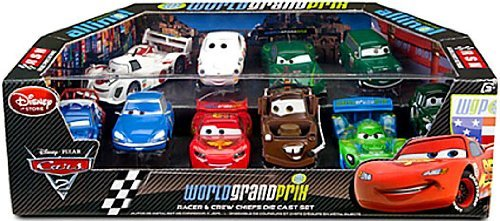 - Disney / Pixar CARS 2 Movie Exclusive 148 Die Cast Car 10 Piece Set World Grand Prix Racer Crew Chiefs Featuring Lightning McQueen