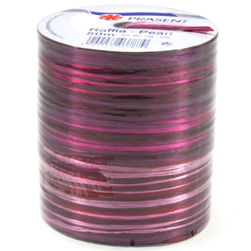 Multi Color Raffia (Morex Ribbon Pearl Raffia Fabric Ribbon Spool, 50m, Cerise)