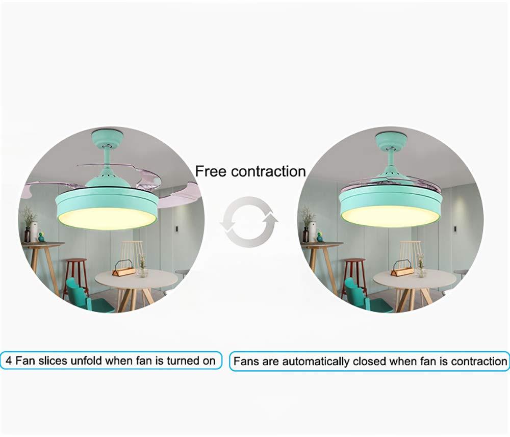 Techo Luz Anfay Invisibilidad Ventilador Con De Teledirigido 2IDEH9eWY