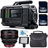 Blackmagic Design URSA 4K v1 Digital Cinema Camera (Canon EF Mount) #CINECAMURSA4K/EF + Professional 160 LED Video Light + Canon CN-E 24mm T1.5 L F Cinema Prime Lens International Model (EF) Bundle
