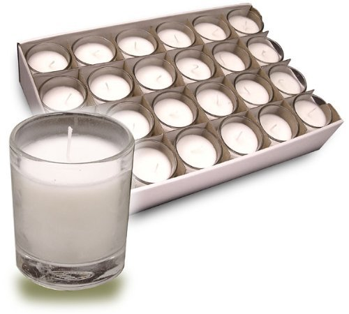 Dynamic Votive Candles in Clear Glass Cups Provide Soft Illumination for Up to 15 Hours (Ctn/24) ()