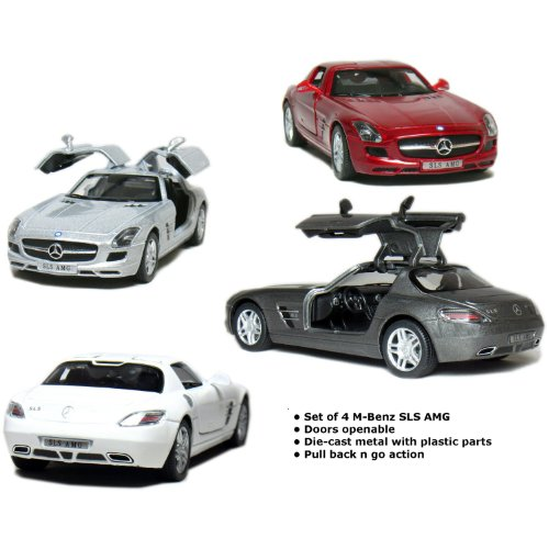 set-of-4-5-mercedes-benz-sls-amg-136-scale-grey-red-silver-white