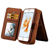 iPhone 6 / 6s Bag, 4.7in, Ecsem PU Wallet Coin Purse Change Purse Bag Receive Bag Phone Bag - Brown