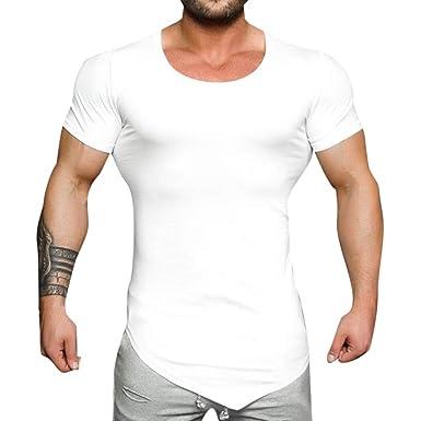 Sportstyle Camiseta de Manga Corta Nuevo Promociones Hombre Logo T ...