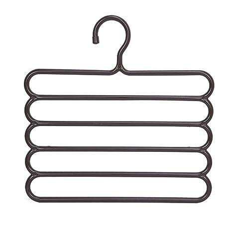 diffstyle multiuso 5 capas pantalones perchas para pantalones toallas Tie ropa soportes familia ahorro de espacio