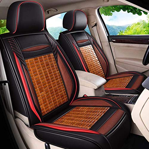 Car Seat Cover Five-seat Leather Bamboo Car Seat Cover Car Accessories Car Seat Cushion Cover All Surrounded (color : B)