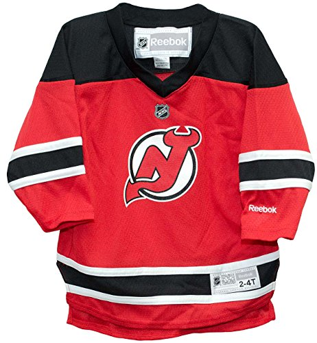 New Jersey Devils Home Red 2T-4T Toddler Screen Print Jersey