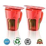 canFly Pack of 2 Reusable 4-Cup Carafe Coffee Filters the Keurig 2.0, K200, K300, K400, K500 Series of Machines (2, Orange)