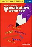 Vocabulary Workshop, Level F, Jerome Shostak, 0821576216