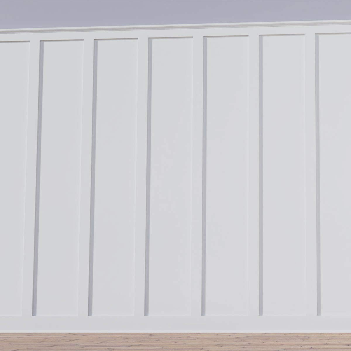 Deluxe Shaker 8 PVC Wainscoting Kit Factory Primed White Heights up to 56 Ekena Millwork WPKP56X04DS Adjustable Wall Panels 12-15