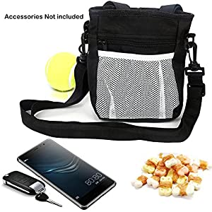 Dog Treat Training Pouch with Poop Bags Dispenser, Extra Long Waist Belt and Over Shoulder Strap, Easily Carries Pet… Click on image for further info.