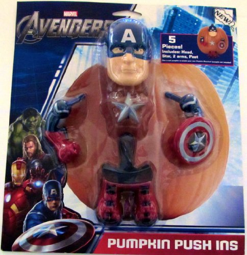 The Avengers Captain America Pumpkin Push Ins]()
