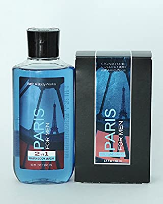 Bath and Body Works Paris For Men Gift Set of Cologne Spray and 2 in 1 Hair and Body Wash