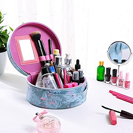 Sooyee Portable Waterproof Makeup Case with Mirror,Makeup Artist Storage for Cosmetics, Makeup Brush, Jewelry, Toiletry, Travel Accessories