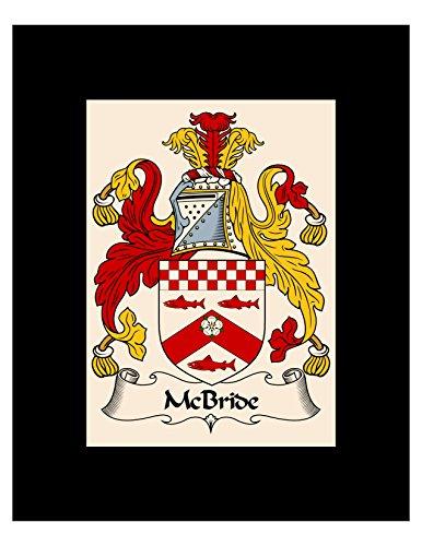 Carpe Diem Designs McBride Coat of Arms/McBride Family Crest 8X10 Photo Plaque, Personalized Gift ()