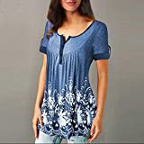 Clearance! Womens Loose Button Blouse, Casual Short