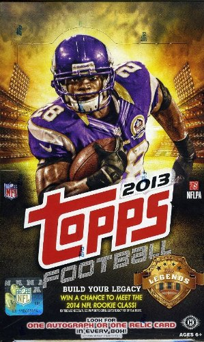2013 Topps NFL Football Massive Factory Sealed Hobby Box with Autograph/GAME USED Relic and 36 Rookie (Nfl Autograph Game Ball)