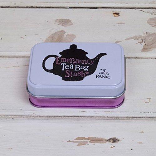 Bright Side Keepsake Tin 'Emergency Tea Bag Stash' by Bright Side