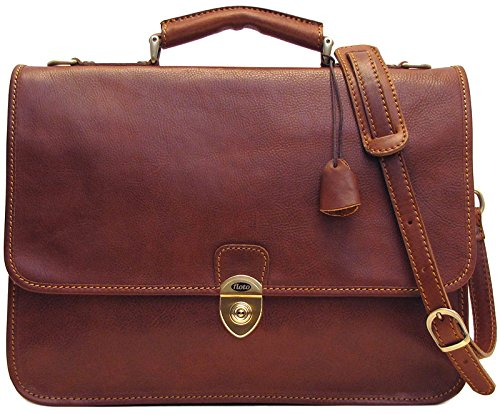 Floto Italian Leather Messenger Bag Briefcase - 1