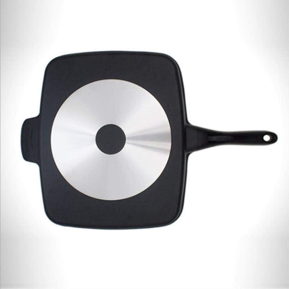 Nbg Poêle à steak multi-usages pour barbecue, poêle, omelettes, casserole carrée noire A