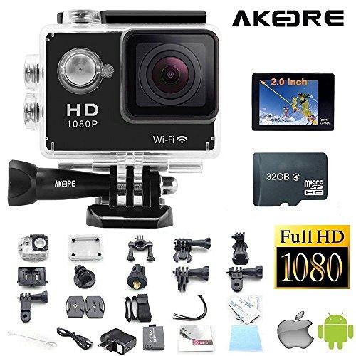 1080p H.264 30fps Full HD Waterproof Wi-Fi Sports Camera (Black) - 8