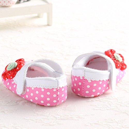 Ouneed® Krabbelschuhe , Weihnachten Baby Mädchen weiche alleinige Krippe Kleinkind neugeborene Schuhe Rosa