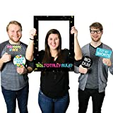 Big Dot of Happiness 80's Retro - Totally 1980s Party Selfie Photo Booth Picture Frame & Props - Printed on Sturdy Material