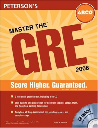 Master the GRE 2008 (Peterson's Master the GRE)