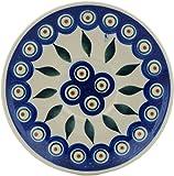 Polish Pottery Saucer 5-inch Peacock