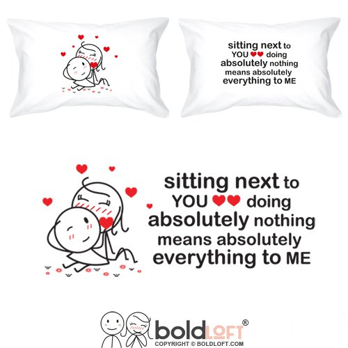 BOLDLOFT You Mean Everything to Me Couple Pillowcases-Valentines Day Gifts for Her,Anniversary Gifts for Couple,His and Hers Gifts,Couples Gifts,Gifts for Boyfriend,Girlfriend Gifts,Husband Wife Gifts