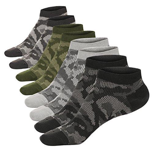 M&Z Mens Low Cut Socks Anti-slid High Grade Camouflage Sock 4 Seasons(4pack)
