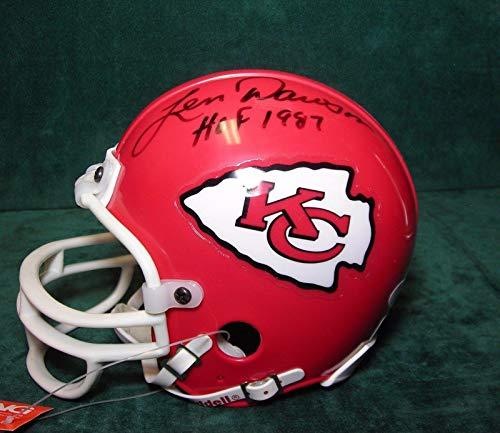 - Signed Len Dawson Mini Helmet - JSA Certified - Autographed NFL Mini Helmets