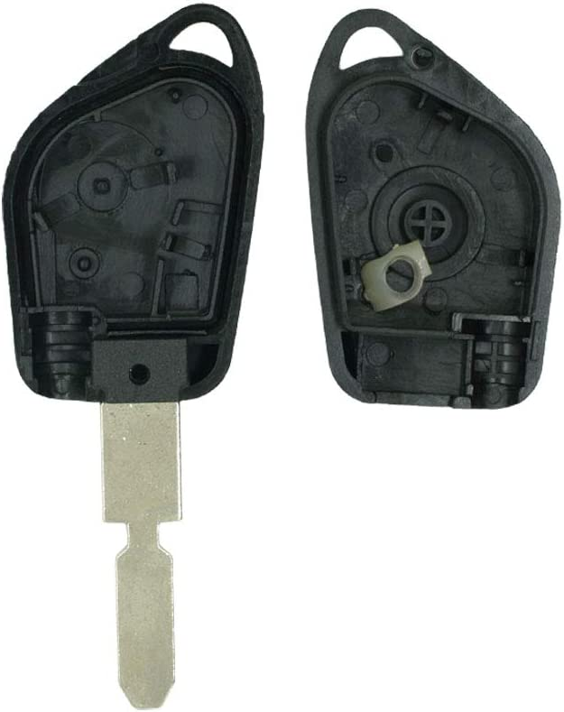 SEGADEN Replacement Key Shell fit for PEUGEOT 406 1 Button Keyless Entry Remote Key Case Fob PG320