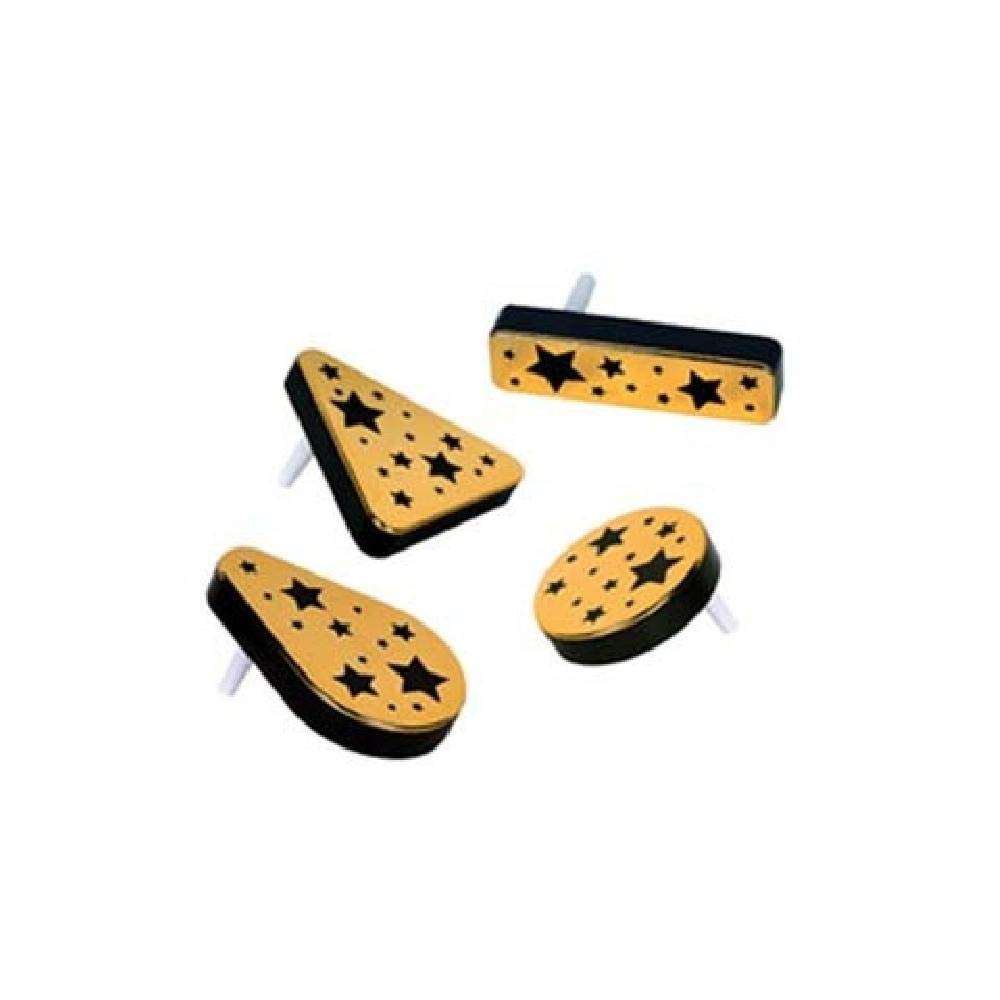 Black and Gold Plastic Metallic Noisemakers - Pack of 20 (with Sticky Notes)