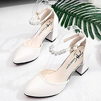 d993c51e8309ee LGK FA Summer Women S Sandals Baotou Sandals Girls Summer Heel Heel Shoes  Women S Shoes Simplicity ...