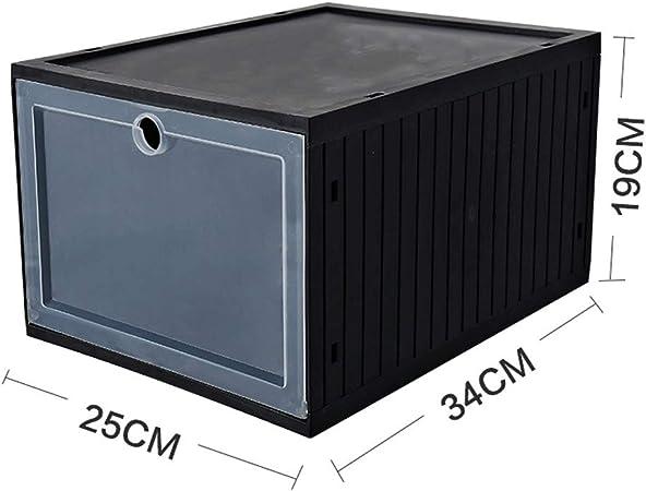 3 Caja de zapatos cargada Caja de zapatos de baloncesto transparente Caja de almacenamiento de zapatillas