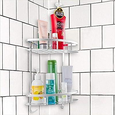 Amazon.com: Cesta de ducha de aluminio resistente al óxido ...