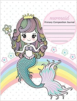 Mermaid Primary Composition Journal Primary Story Journal Dotted