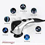 Handheld Back Massager, Deep Tissue Percussion Massager Electric Infrared Physio for Shoulders, Neck, Arms, Back, Waist, Legs and Feet Full Body Massage