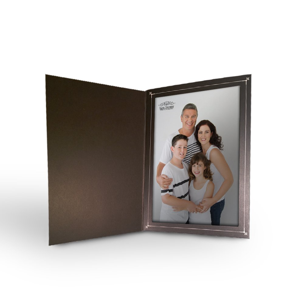 BETTER CRAFTS Cardboard Photo Folder 4x6 - Black (100)