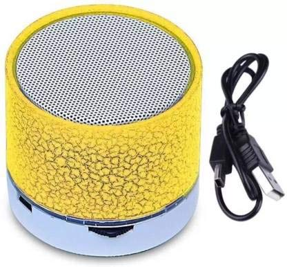 SBA200919S10S12 Wireless S-10 Led Bluetooth Speaker with FM/Radio | Stereo Sound Compatible with All Android, iOS & Windows Device (Assorted Colour)
