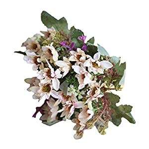 Artificial Flowers Plant China Aster Simulation Wedding Decor 25 Heads/1 Bouquet 6