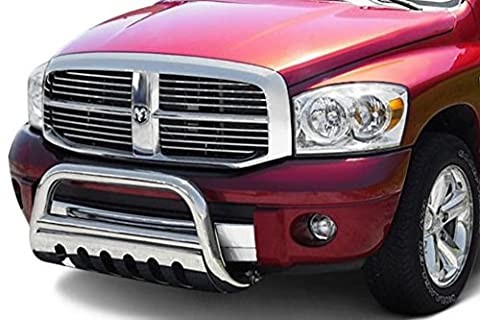 Autobotusa Chrome Bull Bar Brush Bumper Grill Grille Guard 05-10 Grand Cherokee/Commander