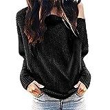 Kiminana ❤️ Women's Ladies Solid Skew Collar Long Sleeve Blouses Shirt Pullover Tops
